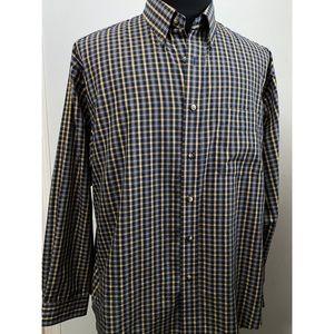Arrow Mens Long Sleeve Button Down Shirt Large